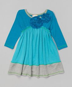 Teal Babydoll Dress - Toddler & Girls by Pink Vanilla #zulily #zulilyfinds