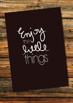 Enjoy the Little Things Hand Lettered Printable by GreySkiesBlue, $5.00