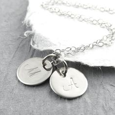The necklace I got with my babies initials! Love it!
