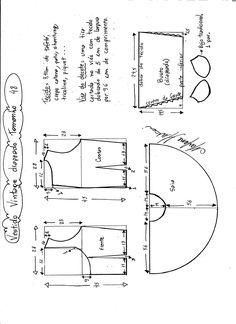 Esquema de montagem de vestido de festa vintage tamanho 48.