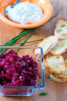 Beet tartare recipe. Tasty snack or appetizer using roasted beets accented with…