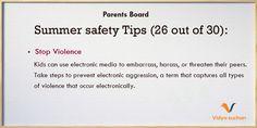 Summer safety tips (tip 26)