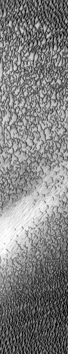 THEMIS image of dunes in Olympia Undae, part of the north polar sand sea on Mars