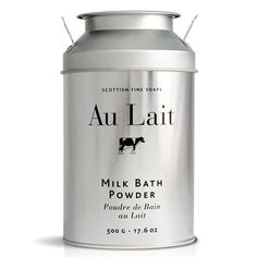 Au Lait Milk Bath Powder 500g metal pot de lait