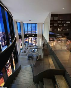 30 Awesome Penthouse Apartment Design Ideas - Manchester is recognized as the greatest city of the United Kingdom. Whenever you hear the name of Manchester city, you always think about big places . Dream House Interior, Luxury Homes Dream Houses, Dream Home Design, Modern House Design, My Dream Home, Dream House Nyc, Luxury Home Designs, Modern Apartment Design, Dream Mansion