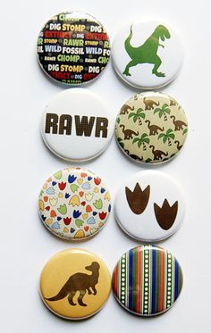 Dinosaur Flair 2 by aflairforbuttons on Etsy, $6.00  #aflairforbuttons #flair #flairbuttons #dinosaur