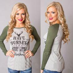 Fashion Women Xmas Elk Prints Tops Loose T-Shirt Long Sleeve Cotton Blouse Jo