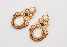 Boucles d'oreilles, Earrings soutache est une création orginale de By-Anja sur DaWanda