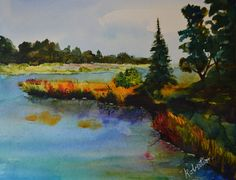 Late Summer At The Lake is an original by TerriRobertsonArt