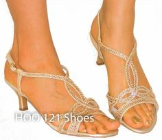Sexy Glitter Strappy Sandals Sparkling Rhinestones Comfy Medium Heels GOLD 8 #BlossomCollection #Strappy