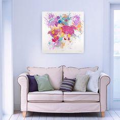 Acryl Gemälde 'Dem Pinsel entwischt' 80x80cm