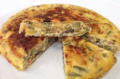 Tortilla de verduras rápida - DIVINA COCINA How To Stay Healthy, Carne, Quiche, Eggs, Tasty, Breakfast, Kitchen, Recipes, Food
