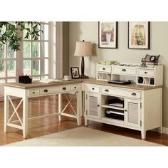 August Grove Lyla L-Shape Desk Office Suite