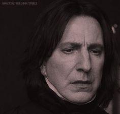 Snapes beautiful but sad eyes