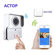 Darmowa Wysyłka!! BEZPRZEWODOWY Dzwonek do drzwi/Drzwi Wideo Telefon/WI-FI Kamera IP Dla IOS, Android Smartfony + aparat bezprzewodowy dzwonek do drzwi