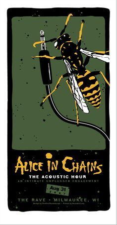 alice in chains concert poster artwork.
