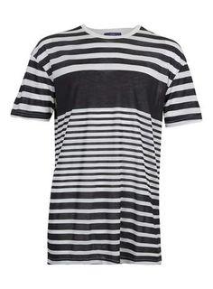 BLACK STRIPE skater T-SHIRT - Men's T-Shirts & Vests - Clothing