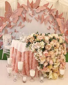Cordial quinceanera decorations We are Waiting For You, 2020 Butterfly Birthday Party, Butterfly Baby Shower, Baby Shower Flowers, Butterfly Wedding Theme, Flower Birthday, Wedding Flowers, Quince Themes, Quince Decorations, Wedding Decorations