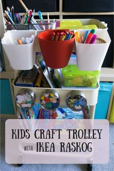 DIY Craft Trolley using Ikea Raskog