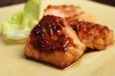 Recipe for Broiled Salmon with Miso Glaze from Heart & Soul in the Kitchen by Jacques Pépin. Light Recipes, Salmon Recipes, Food Network Recipes, Seafood Recipes, Gourmet Recipes, Cooking Recipes, Delicious Recipes, Miso Glaze Recipe, Salmon