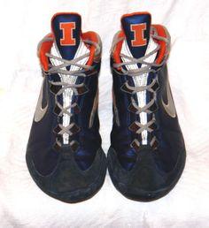 RARE Nike Illinois Kolat IL Blue Orange Kolats Wrestling Shoes Mens Size 10  Ten  2110bd619