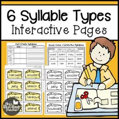 """Are you working on dividing syllables, specifically with open and closed syllables? Your learners won't be able to resist these """"cut the cheese"""" syllable cards from my 6 Syllable Types Interactive Pag"""