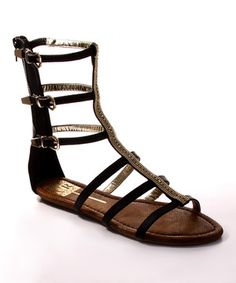This Black Samantha Gladiator Sandal by Cape Robbin Collection is perfect! #zulilyfinds