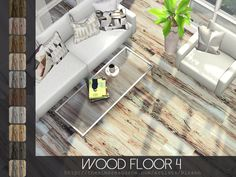 Wood Floor 4 in 10 color variations.  Found in TSR Category 'Sims 4 Floors'