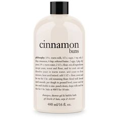Philosophy  Cinnamon Buns Shower Gel ($18) ❤ liked on Polyvore featuring beauty products, bath & body products, body cleansers, beauty and fillers