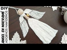 Macrame Bag, Macrame Knots, Macrame Jewelry, Macrame Bracelets, Fairy Crafts, Angel Crafts, Diy Adornos, Macrame Bracelet Tutorial, Christmas Angel Ornaments