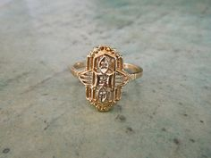 gold filigree ring #gemgossip