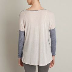 Here's the back of that Charli top, Blue in the front & Chalk in the back! Great with denim.
