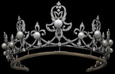 pearl and diamond antique tiara of the Earls Spencer, United Kingdom