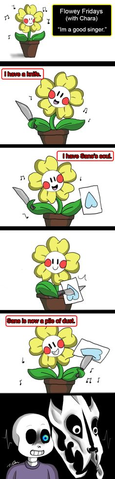 Knife song by joselyn565. Flowey Friday with chara. Inhales: *wants to rant about how chara isn't evil and is also a huge fan of sans but this is fucking hilarious*