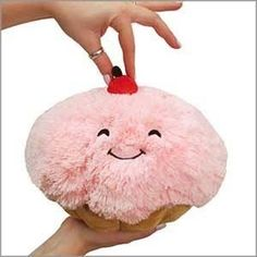 Mini Squishable Cupcake: An Adorable Fuzzy Plush to Snurfle and Squeeze! Food Pillows, Cute Pillows, Kawaii Plush, Mini Cupcakes, Plushies, Cool Gifts, Kids Toys, Christmas Gifts, Holiday Decor