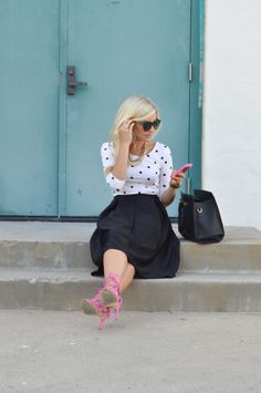 pink shoes and phone