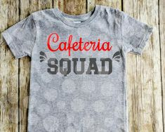 Cafeteria squad svg file, school lunchroom, lunchroom cut file, Lunch ladies, lunch squad, school cafeteria, shirt design, digital download