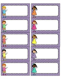 Bright Polka Dot and Kids Avery 5163 Labels {Editable} Classroom Labels, Classroom Displays, Classroom Organization, Printable Name Tags, Printable Labels, Free Printables, Name Activities, School Labels, Organized Teacher