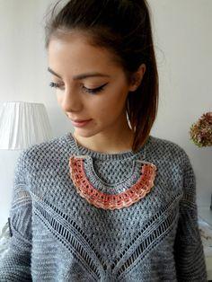 Gehäkelte Tribal Halskette 1 häkeln und Perlen Collier von sewella