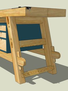 New Workbench: Option Two Woodworking Bench Vise, Learn Woodworking, Woodworking Workshop, Woodworking Plans, Woodworking Projects, Woodworking Techniques, Woodworking Furniture, Welding Projects, Craftsman Workbench
