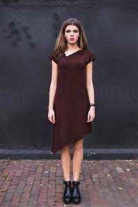 polanka SKEWED DRESS available now at #urbansuits urban-suits.com #Slowfashion #dresses #brown #urbanlifestyle