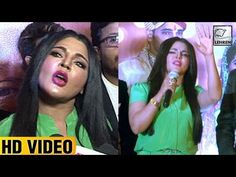 Rakhi Sawant was recently seen talking nonsense at the music launch of an upcoming movie 'Kutumb'. Check out the video to know more.