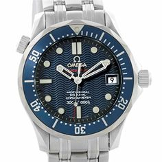 Men's Certified Pre-Owned Watches - Omega Seamaster automaticselfwind mens Watch 22228000 Certified Preowned >>> You can find more details by visiting the image link. (This is an Amazon affiliate link)