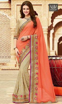 http://www.vjvfashions.com/prominent-orange-georgette-designer-and-party-wear-saree
