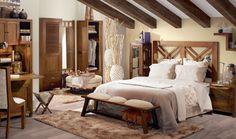Dormitorio colonial Cruz http://www.artesaniadecoracion.com/tienda/Cabeceros-Mesillas-y-Auxiliares.html