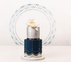 These beaded wedding cakes are so stunning!