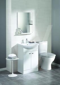 Trueshopping White Gloss Bathroom Vanity Unit Basin Sink