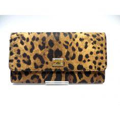 GENUINE DOLCE & GABBANA WALLET Lady's Leopard