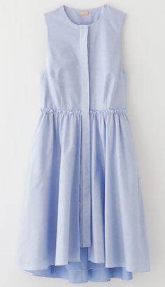 flounce layered shirtdress by katie ermilio for steven alan. Dress Skirt, Dress Up, Shirt Dress, Spring Dresses, Blue Dresses, Dress Summer, Women's Dresses, Blue Dress Casual, Cheap Dresses