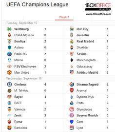 إليكم نتائج كل مباريات دوري أبطال اوروبا ...أية مباراة كانت الأجمل برأيك؟ للتذاكر -> www.1Boxoffice.com #tickets  All Champions League Macth Results....Which was the Best Match of the last 2 days